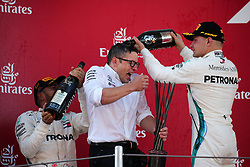 May 13, 2018 - Barcelona, Spain - Lewis Hamilton and Valtteri Bottas, team Mercedes, in the podium of the GP Spain F1, on 13th May 2018 in Barcelona, Spain. (Credit Image: © Joan Valls/NurPhoto via ZUMA Press)