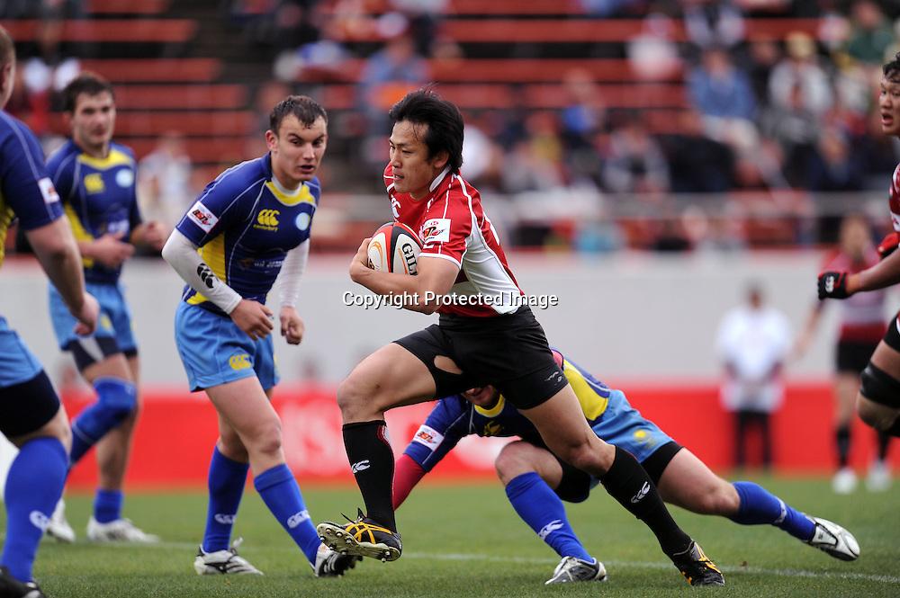 Hirotoki Onozawa (JPN), APRIL 25, 2009 - Rugby : HSBC Asian 5 Nations 2009 between Japan 87-10 Kazakhstan at Kintstsu Hanazono Rugby Grouns, Tokyo, Japan. (Photo by Atsushi Tomura/AFLO SPORT) [1035]