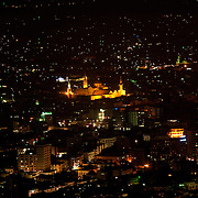 Umayyad Mosque at night, from Mount Qasioun, Damascus