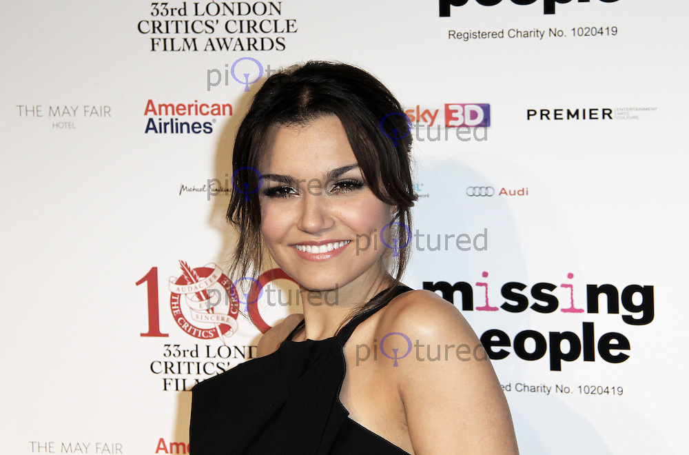 Samantha Barks, The London Critics Circle Film Awards, May Fair Hotel, London UK, 20 January 2013, (Photo by Richard Goldschmidt)