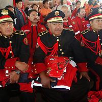 Toluca, México.- El Ayuntamiento de Toluca realizo un reconocimiento al Cuerpo de Bomberos de este municipio por su incansable labor a favor de la sociedad, al mismo tiempo se hizo entrega de equipo y apoyos económicos.  Agencia MVT / Crisanta Espinosa