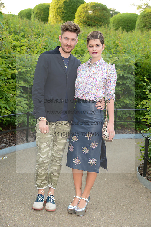 HENRY HOLLAND and PIXIE GELDOF at the Fashion Rules Exhibition Opening at Kensington Palace, London W8 on 4th July 2013.
