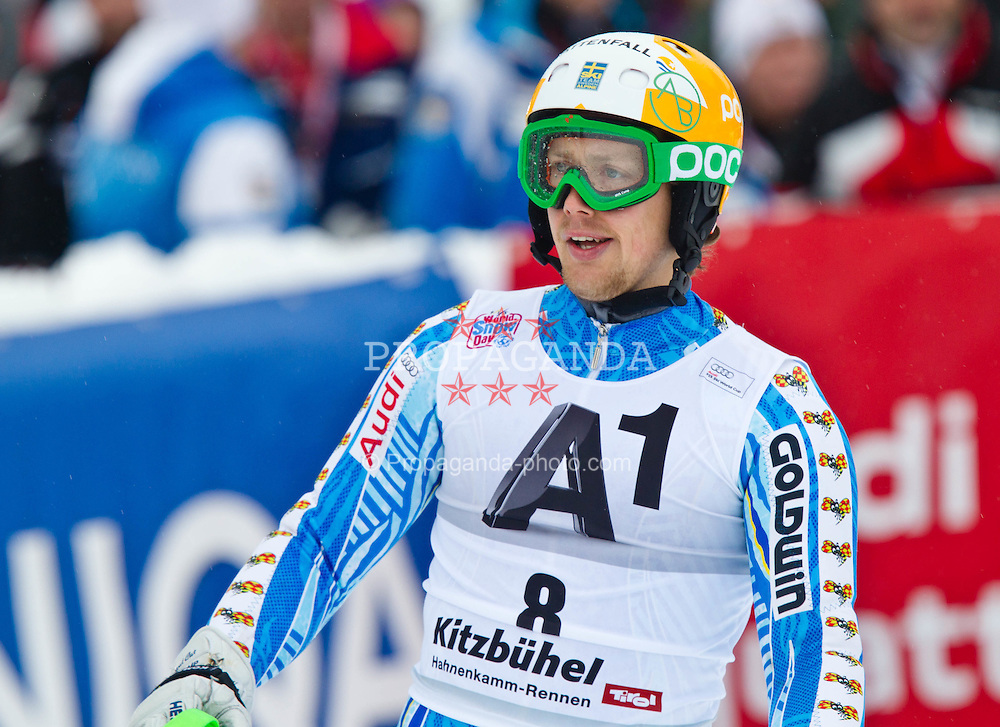 22.01.2012, Ganslernhang, Kitzbuehel, AUT, FIS Weltcup Ski Alpin, 72. Hahnenkammrennen, Herren, Slalom 1. Durchgang, im Bild Axel Baeck (SWE) // Axel Baeck of Sweden during Slalom race 1st run of 72th Hahnenkammrace of FIS Ski Alpine World Cup at 'Ganslernhang' course in Kitzbuhel, Austria on 2012/01/22. EXPA Pictures © 2012, PhotoCredit: EXPA/ Markus Casna