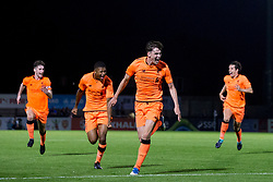LONDON, ENGLAND - Friday, August 25, 2017: Liverpool's Sam Hart celebrates scoring his sides second goal which makes the score 1-2 during the Under-23 FA Premier League 2 Division 1 match between Arsenal and Liverpool at Meadow Park. (Pic by Paul Greenwood/Propaganda)