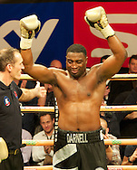 Picture by Alan Stanford/Focus Images Ltd +44 7915 056117<br /> 14/11/2013<br /> Michael Sprott wins on points during their heavyweight prize fighter final  contest at York Hall, Bethnal Green.