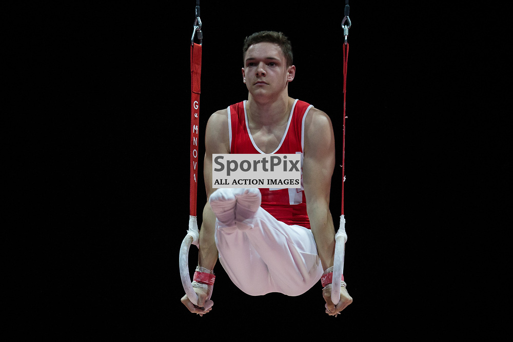 Noe Samuel Seifert of Switzerland competes in the Gymnastics Team Men Qualification - 2018 European Championships Glasgow, 9 August 2018. (c) Adam Oliver | sportPix.org.uk