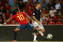 September 11, 2018 - Elche, Spain - Ivan Perisic of Croatia and Thiago Alcantara of Spain  during the UEFA Nations League football match between Spain and Croatia at Martinez Valero Stadium in Elche, Spain on September 8, 2018. (Credit Image: © Jose Breton/NurPhoto/ZUMA Press)