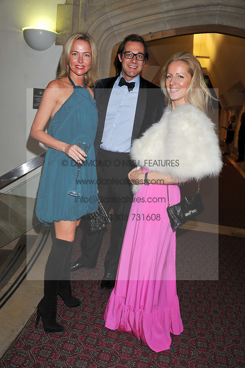Left to right, FELICIA BROCKLEBANK and MAX & JULES KONIG at the Women for Women International UK Gala held at the Guildhall, City of London on 3rd May 2012.