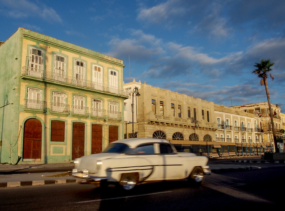 Old Havana glowing in the early morning light. Travel images from Havana Cuba. Pictures by Chris Pavlich Photography.