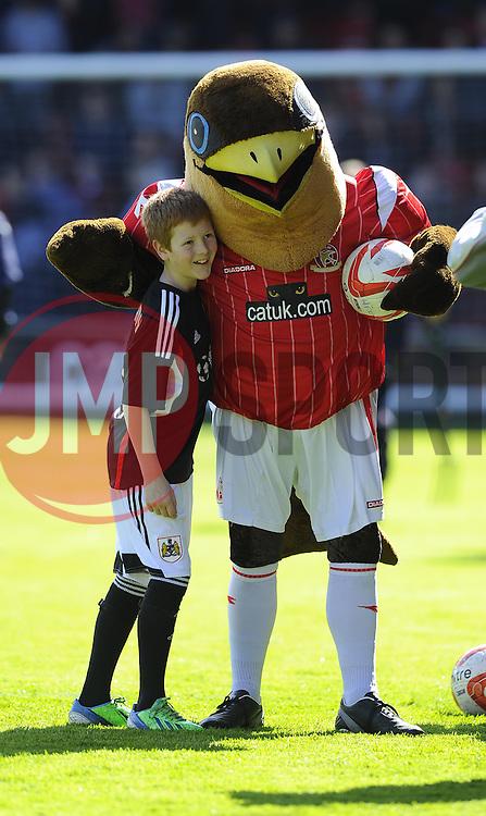 Mascot  - Photo mandatory by-line: Joe Meredith/JMP - Mobile: 07966 386802 12/04/2014 - SPORT - FOOTBALL - Walsall - Banks' Stadium - Walsall v Bristol City - Sky Bet League One