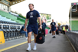 Ed Holmes and the rest of the Bristol Bears team arrive at the Stoop - Mandatory byline: Patrick Khachfe/JMP - 07966 386802 - 20/09/2019 - RUGBY UNION - The Twickenham Stoop - London, England - Harlequins v Bristol Bears - Premiership Rugby Cup