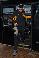 Michael Hector of Hull City arrives at Ewood Park, Blackburn ahead of during the FA Cup match between Blackburn Rovers and Hull City<br /> Picture by Matt Wilkinson/Focus Images Ltd 07814 960751<br /> 06/01/2018