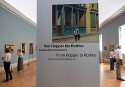 Poster at  exhibition of American art , From Hopper to Rothko at the barberini Museum in Potsdam , Germany . Editorial Use Only