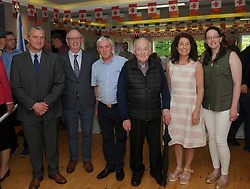 Pictured at the Louisburgh Ireland / Louisbourg Canada twinning event in Louisburgh were John Staunton, Harry Hughes, Jerome Gannon Nomadic Display, Fr Paddy Gill, Deirdre Hughes and Mary O&rsquo;Malley.<br />