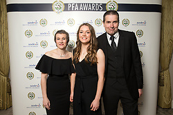 PFA Young Female Player Of The Year winner Lauren Hemp with sponsors during the 2018 PFA Awards at the Grosvenor House Hotel, London