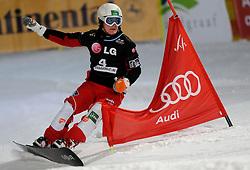 10-10-2010 SNOWBOARDEN: LG FIS WORLDCUP: LANDGRAAF<br /> First World Cup parallel slalom of the season / MARGUC Rok SLO<br /> ©2010-WWW.FOTOHOOGENDOORN.NL