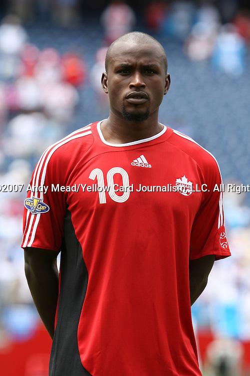16 June 2007: Canada's Ali Gerba. The Canada Men's National team defeated the Guatemala Men's National Team 3-0 at Gillette Stadium in Foxboro, Massachusetts in a 2007 CONCACAF Gold Cup quarterfinal.
