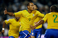 Fotball<br /> Foto: Piko Press/Digitalsport<br /> NORWAY ONLY<br /> <br /> ARGENTINA Vs BRASIL in the South American Soccer derby for the FIFA World Cup S.Africa 2010 Qualification round.<br /> <br /> Brazilian LUIS FABIANO celebrating his first goal and second for his team.<br /> <br /> Rosario - Argentina Septiembre 05, 2009