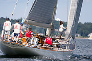 Wild Horses sailing at the Herreshoff Classic Yacht Regatta.