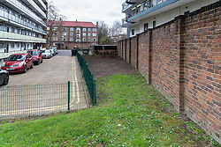 What was once a flourishing vegetable garden in the grounds of Debdale House on the Whiston Estate in Hackney, established by keen gardener Lou Downe, has now been dug up and seeded with grass by council workers after Ms Downe's activities were determined as trespass by Hackney Council.. London, March 08 2019.