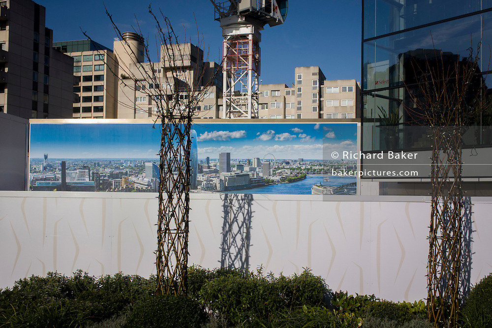 Blackfriars property development marketing suite hoarding landscape.
