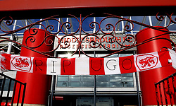 Tributes outside the Riverside Stadium for former player Ugo Ehiogu who died suddenly last week - Mandatory by-line: Robbie Stephenson/JMP - 26/04/2017 - FOOTBALL - Riverside Stadium - Middlesbrough, England - Middlesbrough v Sunderland - Premier League