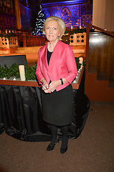 MARY BERRY at the charity Child Bereavement UK's 21st Anniversary Christmas Carol Concert held at Holy Trinity Brompton, London on 10th December 2015.