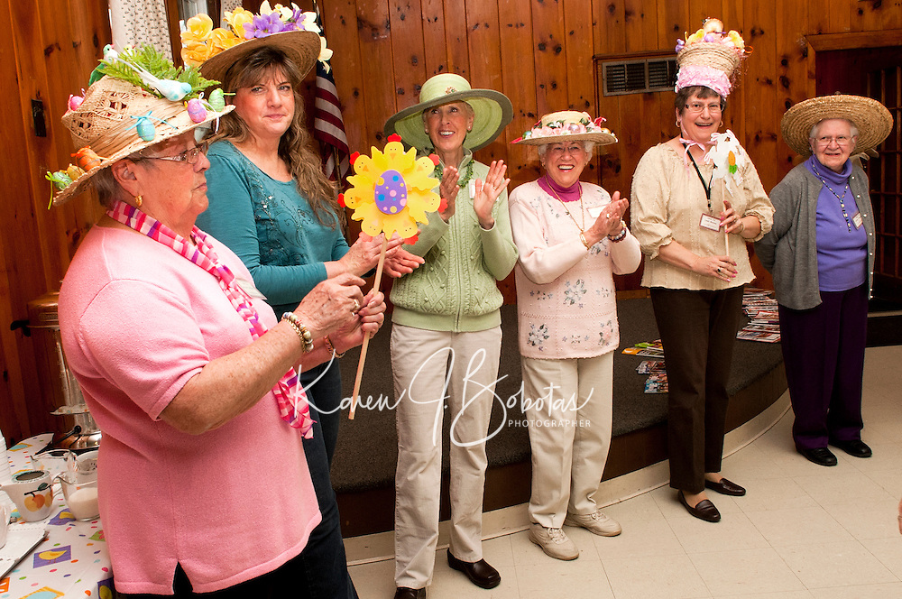 Laconia Elder Friendship Club Easter Hat Parade at Leavitt Park Clubhouse April 20, 2011.