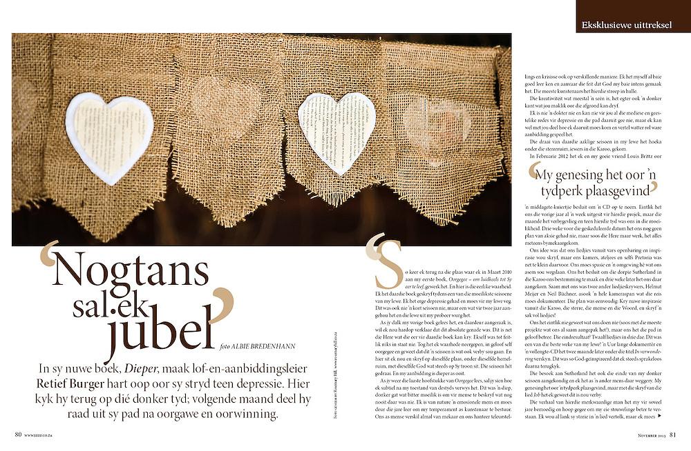 Editorial for Media 24 Magazine Leef.