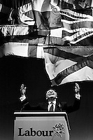Neil Kinnock Labour Party leader speaking at the parties 'infamous' election rally in Sheffield. © Martin Jenkinson