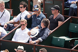 David Hallyday in stands during French Tennis Open at Roland-Garros arena on June 08, 2018 in Paris, France. Photo by Nasser Berzane/ABACAPRESS.COM