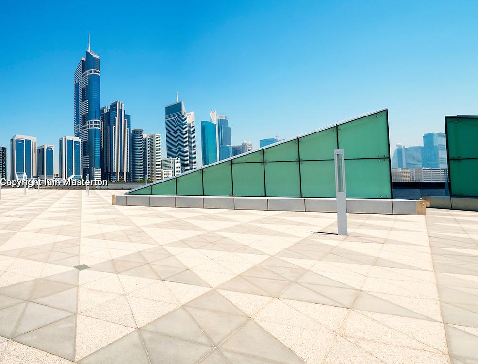 Skyline towards Sheikh Zayed Road in Dubai United Arab Emirates