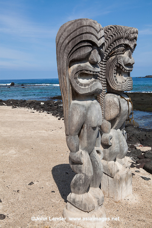Puuhonua - Honaunau National Historical Park is a US National Historical Park located on the Big Island of Hawaii. The park preserves the site where up until the early 19th century Hawaiians who broke an ancient law could avoid death by fleeing to this place of refuge or puuhonua. Here, the offender would be absolved by a priest and freed to leave. Defeated warriors could also find refuge here during times of battle. The grounds just outside the wall that encloses the puuhonua were home to several generations of powerful chiefs.