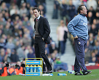 Photo: Lee Earle.<br /> West Ham United v Middlesbrough. The Barclays Premiership. 31/03/2007.Middlesbrough manager Gareth Southgate (L) looks unhappy as they trail to West Ham.