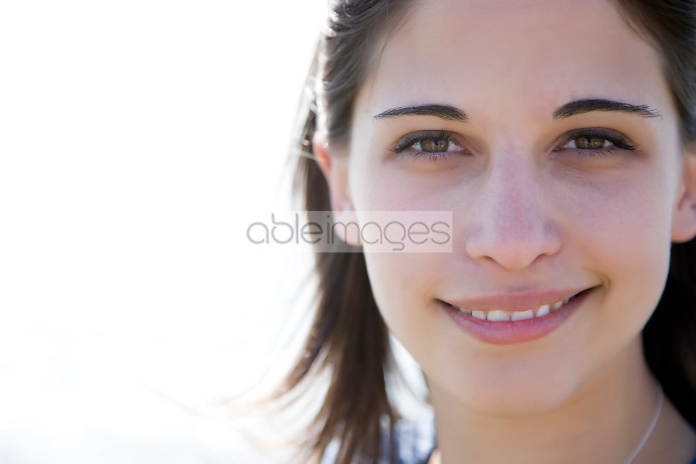 Close up of a young woman