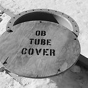 """Observation Tube, a 24"""" diameter tube with ladder that leads to an underwater observation area."""