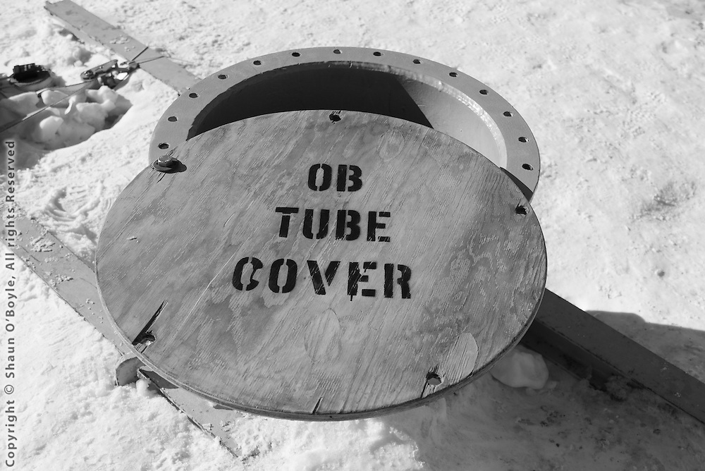 "Observation Tube, a 24"" diameter tube with ladder that leads to an underwater observation area."