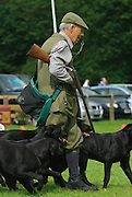Field sports, shooting display at Lowther horse trials, Cumbria