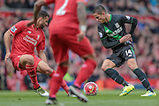 Ibrahim Afellay (Stoke City) during the Barclays Premier League match between Liverpool and Stoke City at Anfield, Liverpool, England on 10 April 2016. Photo by Mark P Doherty.