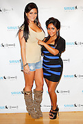 "NEW YORK - JULY 08:  Jersey Shore's Jenni ""JWoww' Farley (L) and Snooki visit the SIRIUS XM Studio on July 8, 2010 in New York City.  (Photo by Joe Kohen/WireImage)"