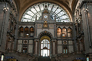 Interior of a train station, Antwerp, Belgium
