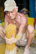 Joss Stick Manufacture in Can Tho, in the Mekong Delta of Vietnam