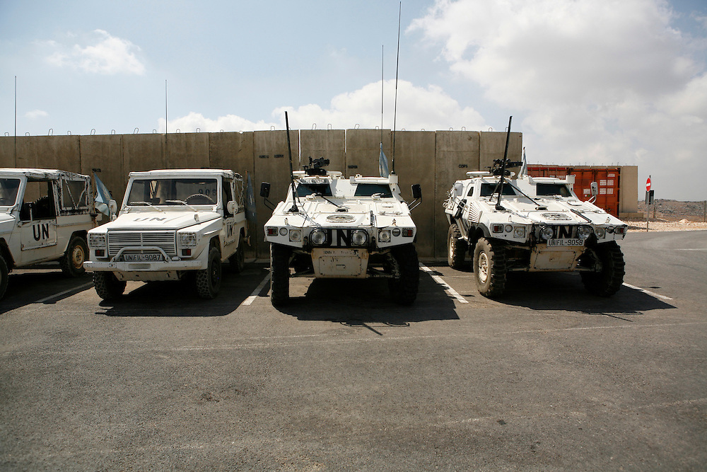 """Originally created in 1978, The United Nations Interim Force in Lebanon (UNIFIL) was created to ensure oversee an Israeli withdrawal from Lebanon, who at that time began its occupation of southern Lebanon that lasted until 2000. After the Israeli war on Lebanon in 2006, UNIFIL enhanced its presence in southern Lebanon to monitor the cessation of hostilities. ..Pictured: The UNIFIL French camp """"2.45"""" in al-Tiri in southern Lebanon."""