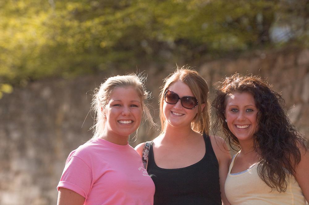 18645Spring Campus:..Ellen Lathrop, Kait Ulbrich, Janna Townsend(right)