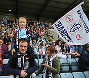 Dundee fans - Dundee v Dumbarton, SPFL Championship, Helicopter Saturday at Dens Park<br /> <br />  - &copy; David Young - www.davidyoungphoto.co.uk - email: davidyoungphoto@gmail.com