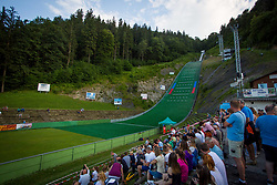 Spectators during Ski Jumping Continental Cup, on July 7th, Kranj, Slovenia. Photo by Ziga Zupan / Sportida