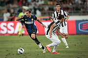 Bari (BA) 21.07.2012 - Trofeo Tim 2012. Inter - Juventus. Nella Foto: Caceres (J) sx e Palacio dx (I)