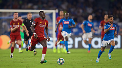 NAPLES, ITALY - Tuesday, September 17, 2019: Liverpool's Sadio Mane during the UEFA Champions League Group E match between SSC Napoli and Liverpool FC at the Studio San Paolo. (Pic by David Rawcliffe/Propaganda)