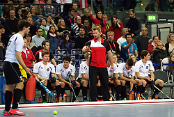 LEIZPIG - WC HOCKEY INDOOR 2015<br /> AUT v IRI (Semi Final 2)<br /> LASKWOSKI Tomasz<br /> FFU PRESS AGENCY COPYRIGHT FRANK UIJLENBROEK