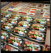 Packaged sushi for sale in a Tokyo department store, Japan.